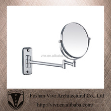 stainless steel rotatable wall mounted bathroom cosmetic mirror