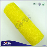 ColorRun 9'' yellow texture foam paint roller