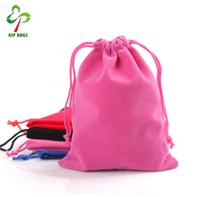 Elegant fashion wholesale flannel bags jewelry packaging pouch bag from china