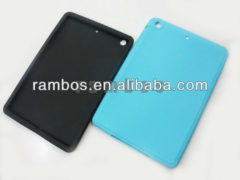 Rubber Gel Silicon Tablet PC Color Soft case for iPad mini