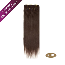7A Cheap Brazilian Virgin clip in hair extensions free sample in stock