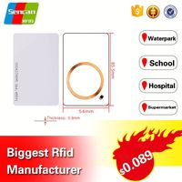 Contactless rfid hotel key card Blank PVC Smart Card