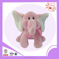 Plush pink & blue sitting elephant ,lovely elephant stuffed toys for baby and children