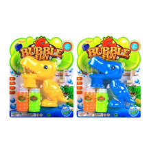 Hot promotional gift kids toy plastic hand dinosaur bubble gun
