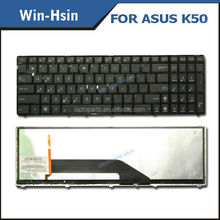 New US laptop Led keyboard for Asus K50 with backlight keyboards