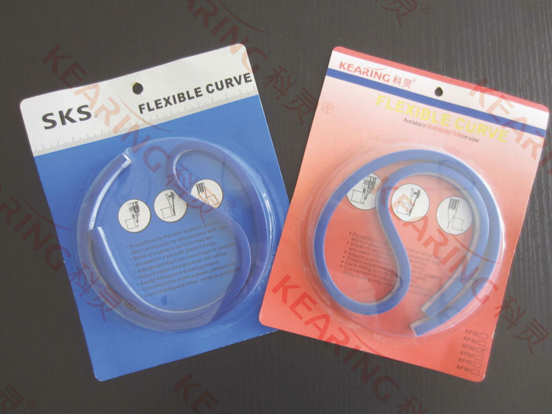 Kearing flexible curve / adjustable with any shape for line drawing / metric and inch scale with kinds of length