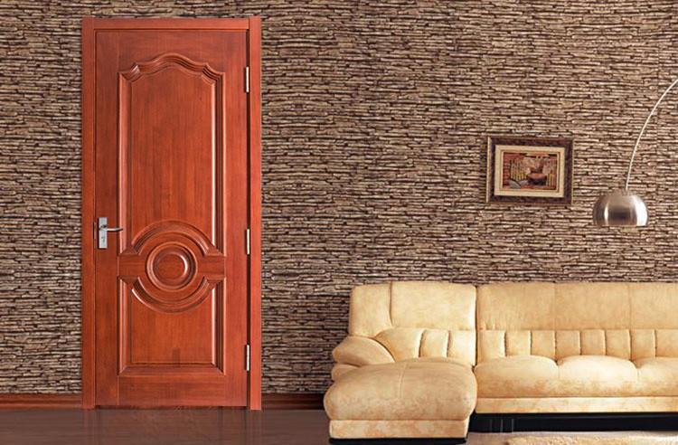 nuevo modelo estilo europeo de madera puertas de entrada para la casa
