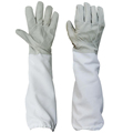 Beekeeper Goatskin Gloves Bee Keeping with Vented Long Sleeves 1pair
