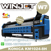water transfer film inkjet printer in china market\konica 512 42pl 512i-1024-512 solvent W7 printer for sale