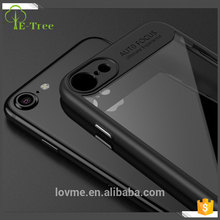 Clear plastic back combo tpu bumper cell phone case for iphone 7
