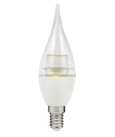 flame led candle light 5 watt E14 Clear lens 360 degree beam angle