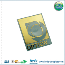 custom Nickel logo nameplate metal nickel sticker, Option high quality nameplate