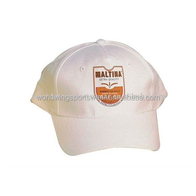 Mens white embroidered cotton twill Baseball Caps