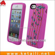 Soft epoxy silicone phone case, fashion 3d cell phone case