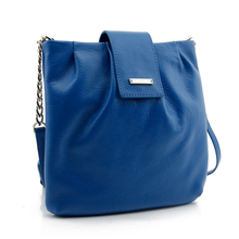 CSS 1814-001 pure blue top grade full grain cow leather shoulder bags women cross body bag