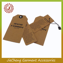 Wholesale New China Cloth Print Designs Hang Tag famous brands/garment hang tag string/hang tags