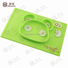 Baby placemat with good price Hot sale custom silicone placemat kids silicone placemat with FDA standard by DHL