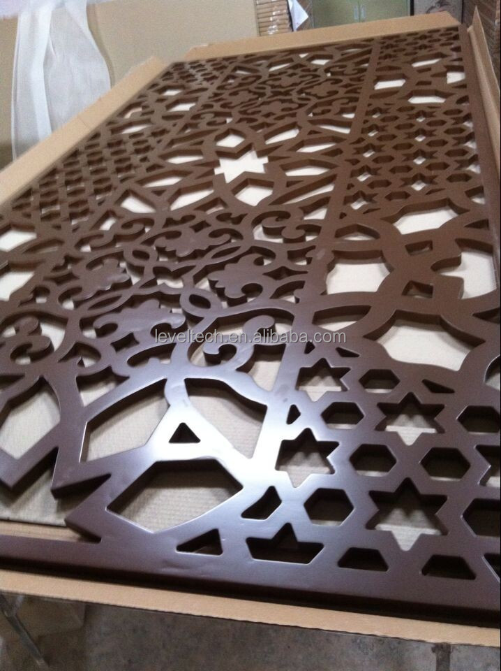 Customized DIY Room Divider for MDF Grille Panels for indoor for European and Latin America