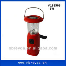 3W Rechargeable Solar Hand Cranking Lantern