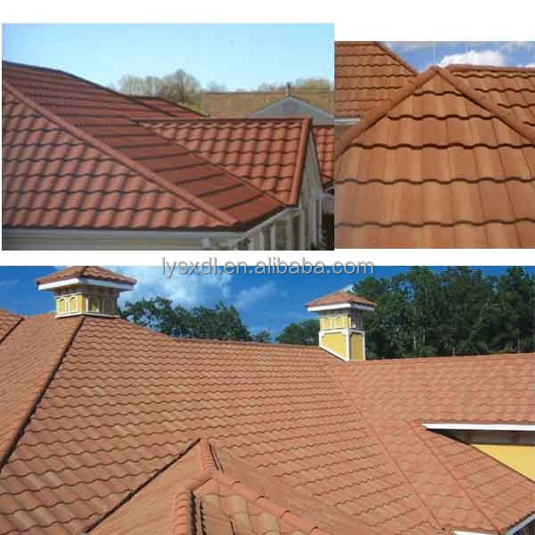 New building material double roman tiles type roof tile /stone coated steel corrugated sheet/solar roofing shingle