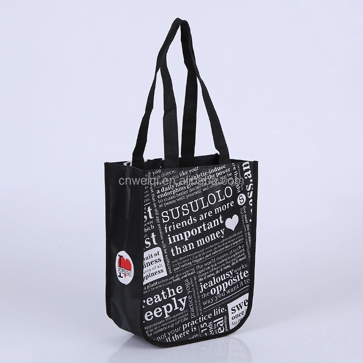 Promotional foldable personalized non woven Laminated shopping trolley bags