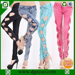 New design slim fit skinny women jeans wholesale cheap thin sexy ladies girls tights