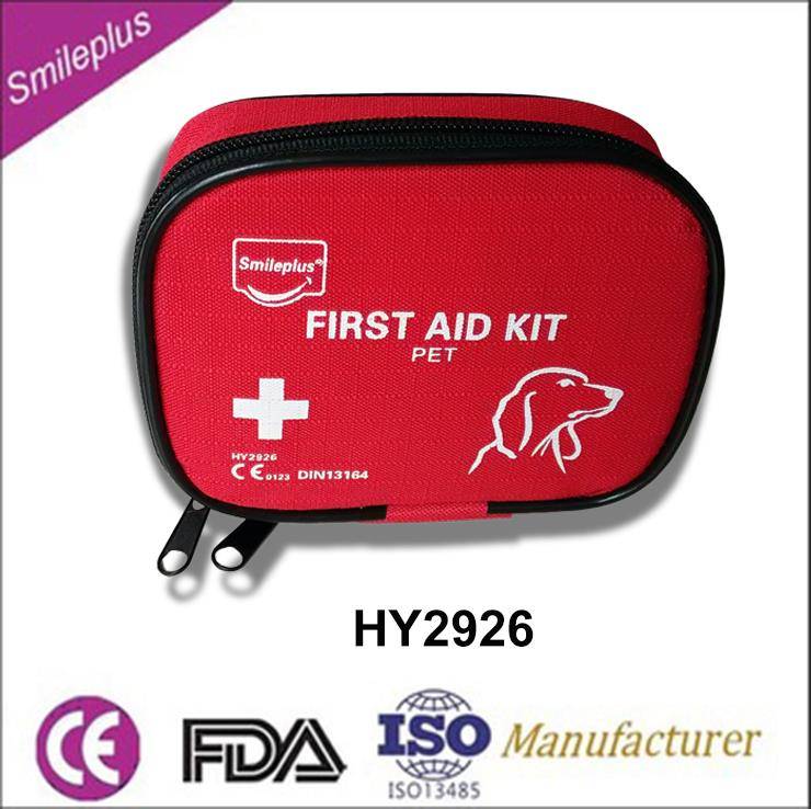 Red mini pet FDA&CE medical first aid kit you best choice