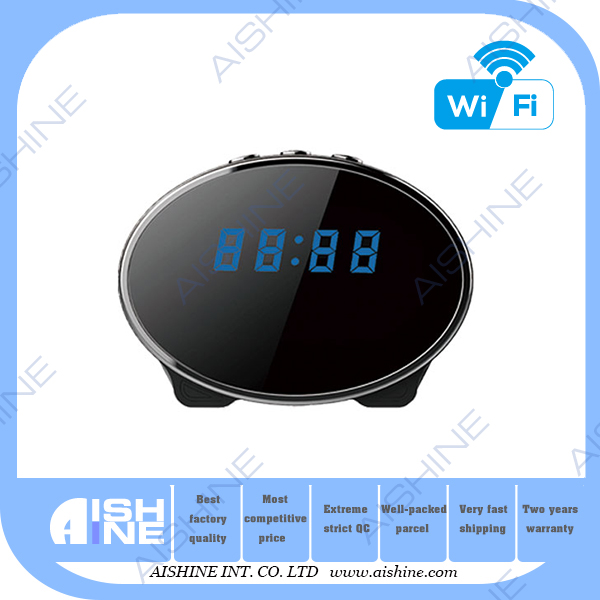 Newest Night Vision 1080P wifi ip camera wireless p2p digital hidden toilet mini clock camera hidden cam