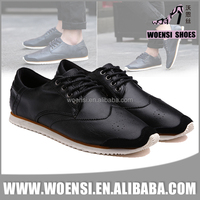 2016 new fashion elegant cool quality cheap black men casual shoes