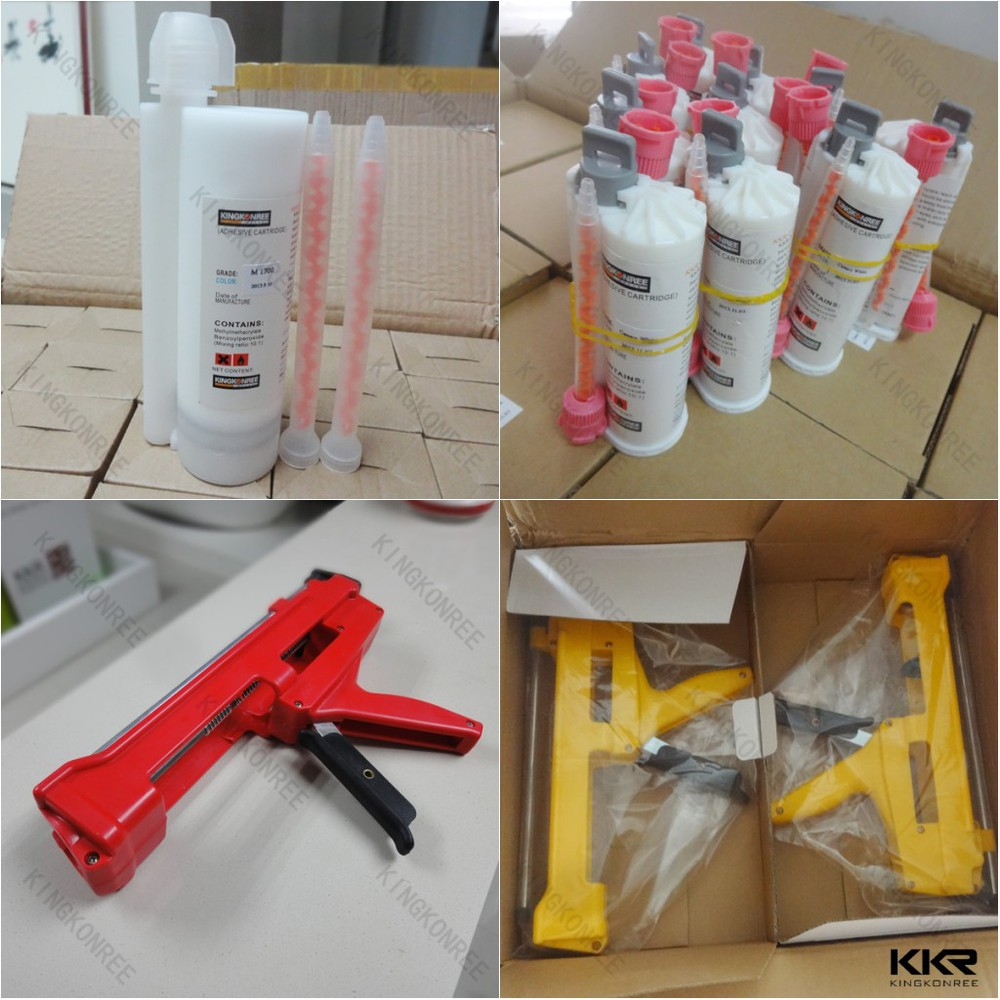 KKR solid surface glue stone adhesive glue with dispenser
