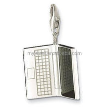 Computer shape pendant charm computer jewelry accessory