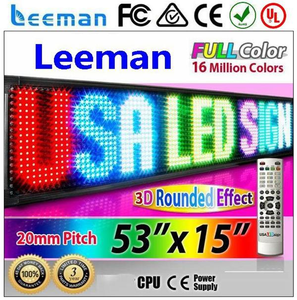 ultra high resolution outdoor led display led sports arena display cabinet 16x64 dots led moving message sign board