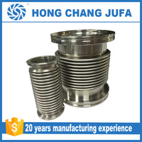 Stainless steel 304 corrugated metal bellows expansion joint with carbon steel Flange