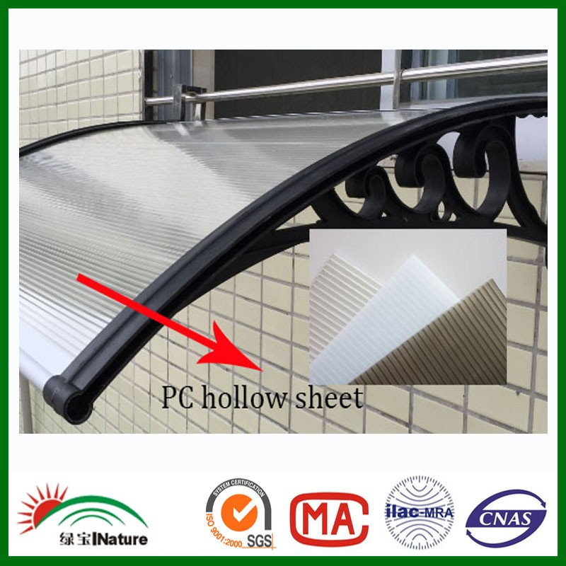 PC hollow sheet awning&canopy