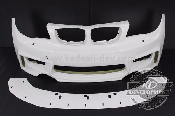 RIG 1M STYLE FRONT BUMPER SPLITTER FIBER GLASS FOR E82 E87 E88 135I
