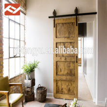 7' Tall Four Panel Unfinished Solid Pine Interior Wood Barn Door Slab