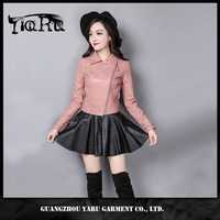 Leather Jacket Women 2017 New Fashion Autumn Long Sleeve Slim Sexy Short