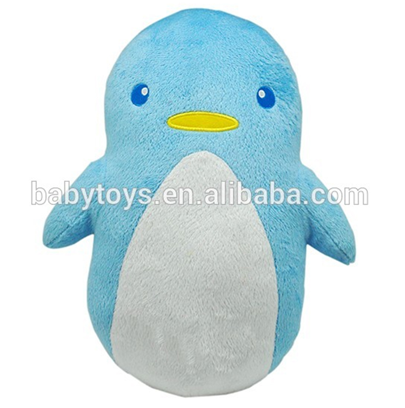 Custom stuffed penguin animal tube shaped pillows for baby
