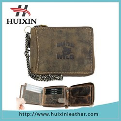 Wallet Chain Natural Genuine leather wallet manufacturer