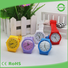Customized Logo kids waterproof colorful silicone wristband watch