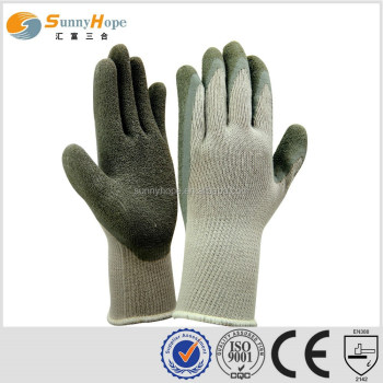 palm grey Knit Glove with Latex Coating Gripping