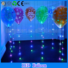 led light balloon printed happy birthday lighting balloon with led