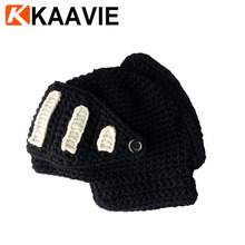 Men Boy Women Crochet Knit Roman Knight Helmet Ski Hat Winter Warm Mask Beanies