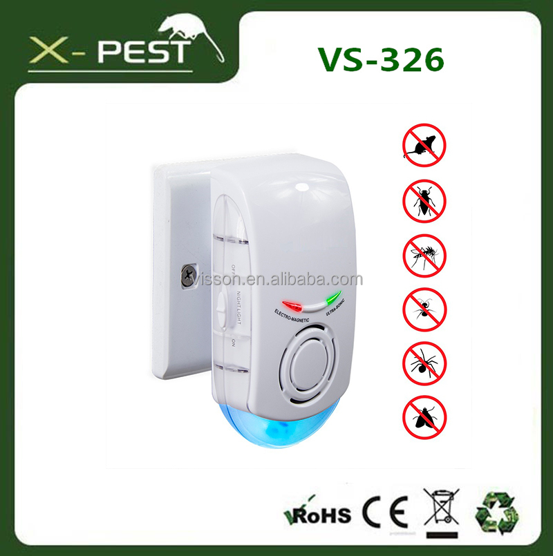 visson x-pest vs-326 electromagnetic ultrasonic dual dog cat fish bird pest control