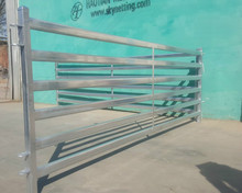 livestock ranch farming galvanized tube/rail feedlots fencing panels(heavy duty/portable/durable)