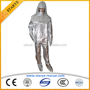 Radiation Resistant Fireman Used Heat Protective Coverall