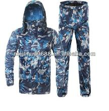 2015 Camouflage Waterproof Breathable Military RainSuit