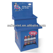 Commercial Cartoon Cardboard Floor Stand Display for Bottle