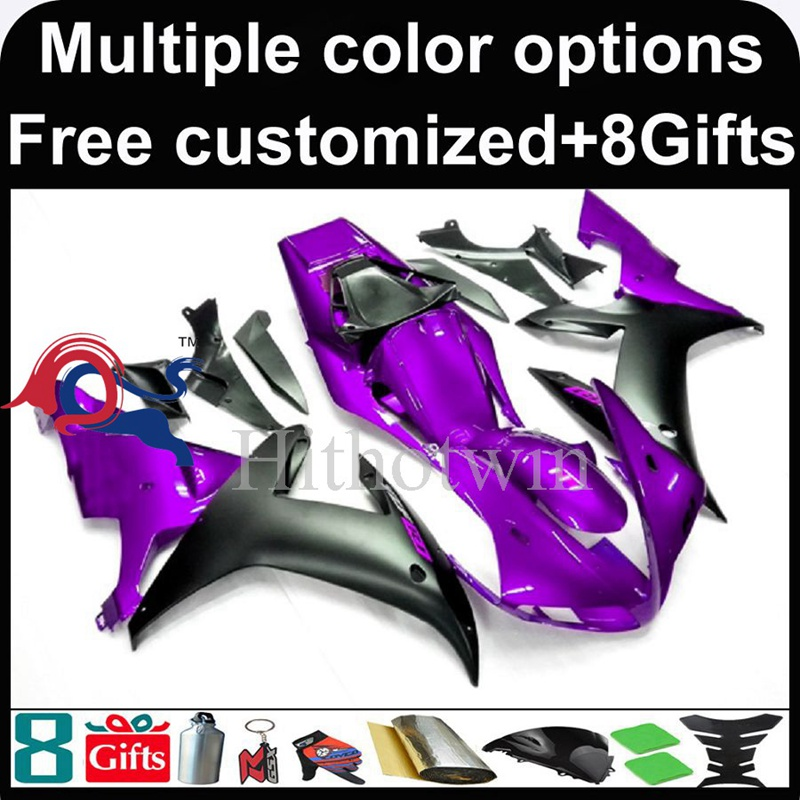 purple black Body motorcycle cowl for Yamaha YZF-<strong>R1</strong> 2002-2003 <strong>02</strong> <strong>03</strong> YZFR1 2002 2003 <strong>02</strong>-<strong>03</strong> ABS Plastic Fairing