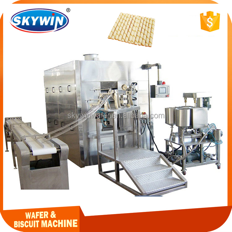 China New Automatic Snack Egg Roll Wafer Stick Making Machine